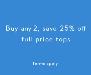 buy any 2, save 25% full price tops